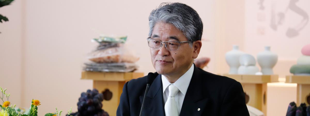 Saudação do Rev. Michio Shirasawa – Presidente da Sede Central Izunome