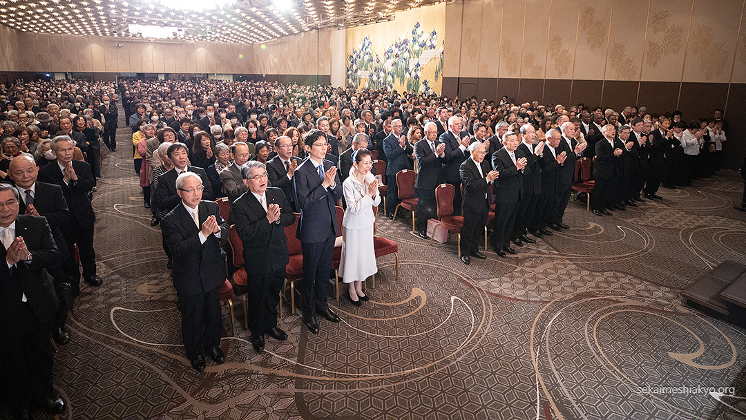 World Church of Messiah is resurrected in modern times ~In a colorful Risshun Service 5,200 people gather~
