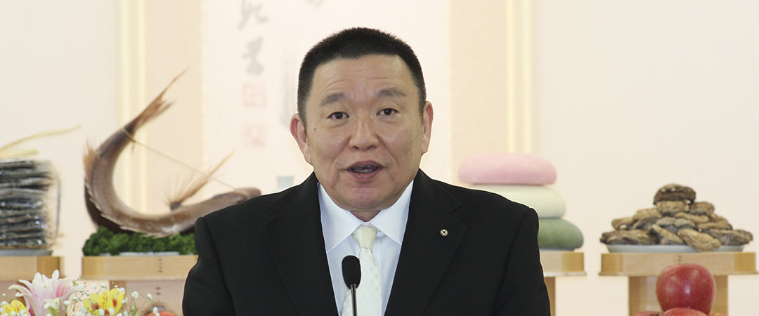 2019.3.1 豊穣祈願祭 成井理事長挨拶