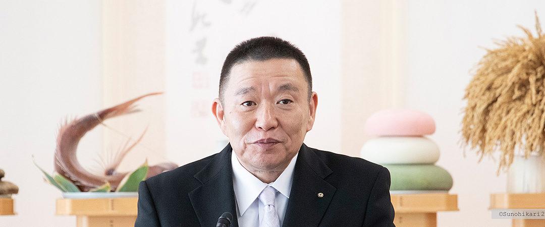 2019.12.1 新穀感謝祭 成井理事長挨拶