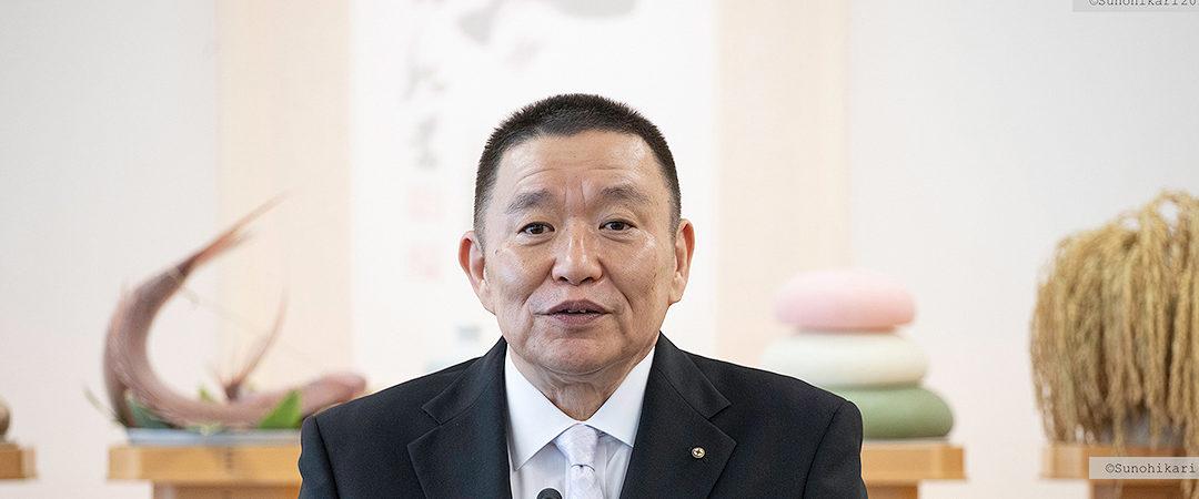 2019.11.1 十一月度月次祭 成井理事長挨拶