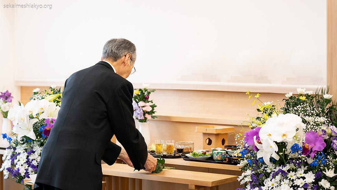 Three-Year Anniversary Memorial Service for Meishu-sama's second daughter, Miya Yoshioka