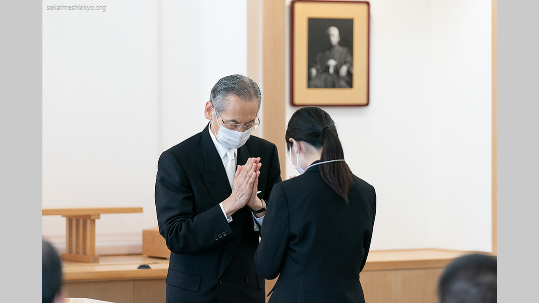 Gospel of salvation for the world – Profession ceremony with Kyoshu-sama's presence