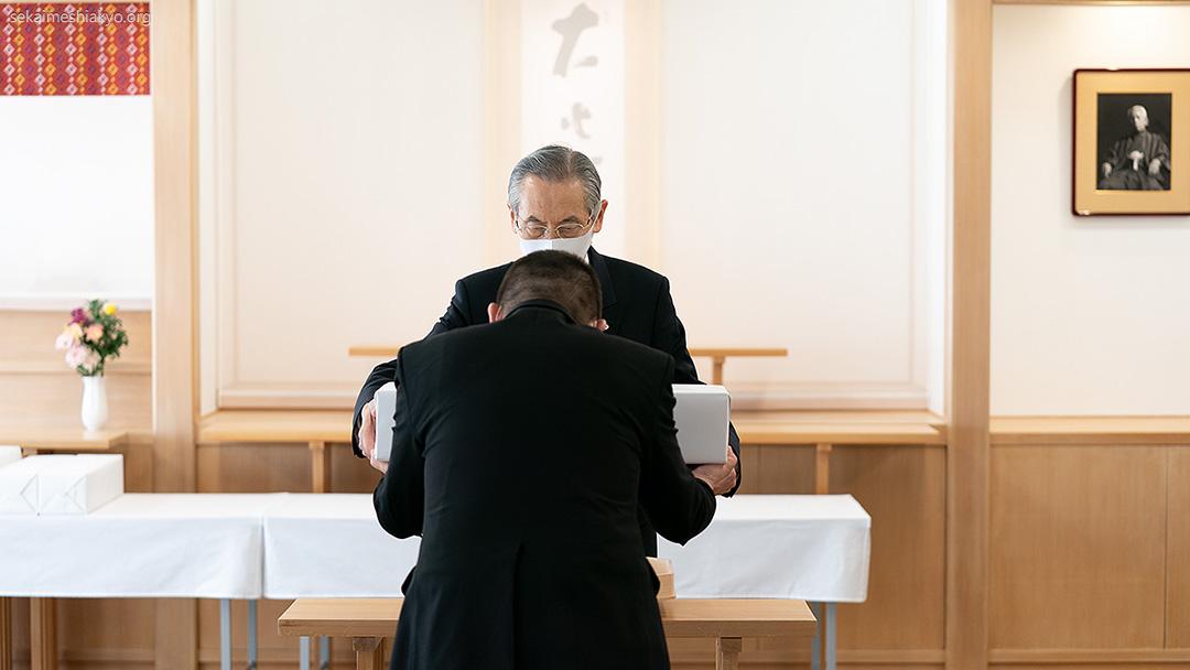 Holy Presentation of Sacred Objects officiated by Kyoshu-sama